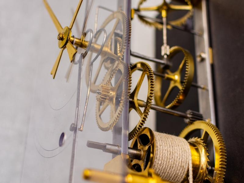 industrieel open comtoise uurwerk